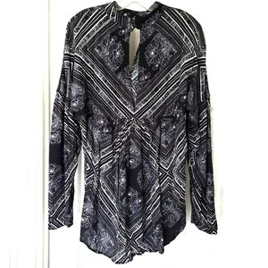 Free people black and white tunic